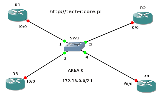 ospf - wybór designated router i backup designated router