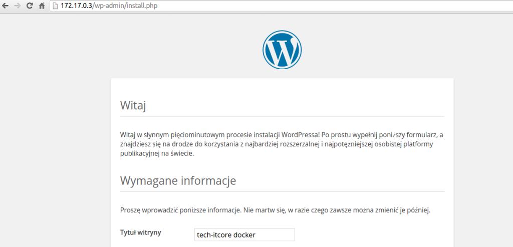 Docker - instalacja WordPressa